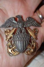 WWII Viking Navy hat insignia & other medals costume jewelry flying cock