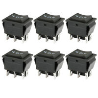 6pcs DPDT 20 amp Maintained 6 PIN ON-OFF-ON Momentary Rocker Switch KCD2