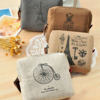 Classic Retro Canvas Tower Wallet Coin Purse Bag Pouch Case 4 Pattern for Lady