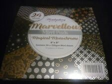 """8"""" X 8"""" HUNKYDORY MARVELLOUS MIRRI PAD MAGICAL MONOCHROME NEW FACTORY SEALED"""