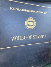 postal commemorative society world of stamps album with 20 pages 40 cards