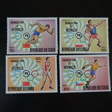 TCHAD N°278/281 JEUX OLYMPIQUES MUNICH 1972 NEUF ** LUXE MNH