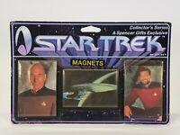 1997 Ata-Boy Star Trek Next Generation 3 Pc. Magnet Set Picard Riker Enterprise