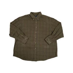 "Vintage Arrow Green Check Long Sleeve Button Down Shirt Mens USA XXL 56"" Chest"