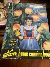 Kerr Home Canning Book - National Nutrition Edition 1943, World War II