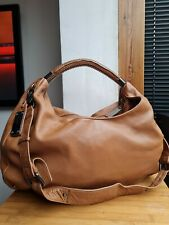 KENNETH COLE VERY LARGE BROWN GENUINE LEATHER SHOULDER BAG