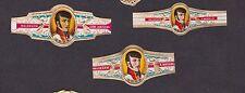 3 Anciennes  Bagues  de Cigare Label   BN13772 Homme
