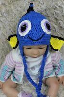 New Handmade Knit Crochet Baby Child Kids Hat Cap Beanie Finding Dory Hat Beanie