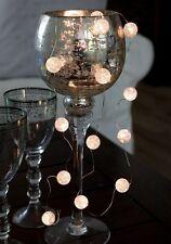 LED Kugel Lichterkette Marble Balls Kugeln Batterie m. Timer 15tlg