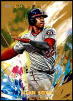 Juan Soto 2020 Topps Inception 5x7 Gold #4 /10 Nationals
