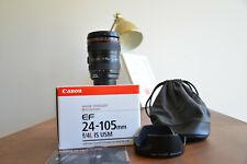 Canon EF 24-105 mm f/4.0 IS L USM OBIETTIVO IN SCATOLA ORIGINALE-OTTIME CONDIZIONI -