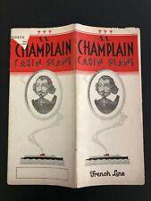 Ss Champlain - French Line | Pre-Maiden Voyage Interior Brochure & Deck Plan