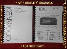 TS-50S Instruction Manual & Service Manual *ON 32 LB PAPER*w/The Heavier Covers!