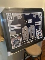 Michael Irvin Authentic Autograph Framed Jersey COA NFL Cowboys