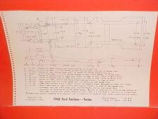 1968 FORD FAIRLANE 500 XL TORINO GT CONVERTIBLE RANCHERO FRAME DIMENSION CHART
