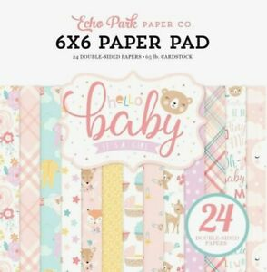 Baby Girl Newborn Nursery Sleeper Clothes Pink 6 x 6 Echo Park Paper Pad