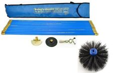"Bailey Universal Chimney Brush Sweep Sweeping Drain Rod Set Kit With 16"" Brush"