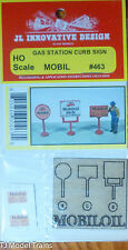 JL Innovative Design #463 ( Mobil ) Gas Station Curb Signs (Kit)