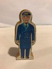 1994 Wooden Conductor Paper Decal Figure Thomas the Train Engine Rare Vhtf blue