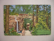 VINTAGE LINEN POSTCARD ENTRANCE TO ROCK CITY LOOKOUT MOUNTAIN CHATTANOOGA TN