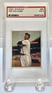 1950 Bowman Ted Williams Graded PSA 3 Very Good Boston Red Sox Baseball Card