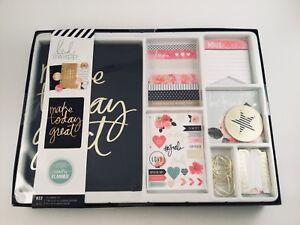 Heidi Swapp Planner Kit Stripes Monthly, Weekly Calendar Agenda w/Rings Undated