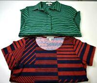 Coldwater Creek Women's Size 14 Short & Long Sleeve Blouse & Shirt Lot of 2