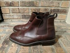 Cole Haan William Wingtip Brown Leather Boots dMens Size 10.5