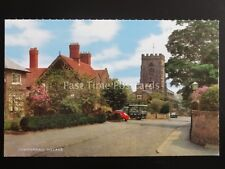 Cheshire GRAPENHALL VILLAGE Church Lane THE RAMS HEAD shows MILK FLOAT Postcard