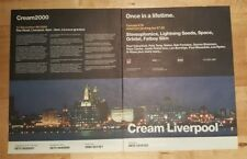 Cream Liverpool 2000 Orbital 1999 press advert Double  page 29 x 58 cm poster