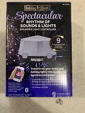 Holiday Brilliant Rhythm of Lights Music Box Bluetooth Speaker Controls Lights