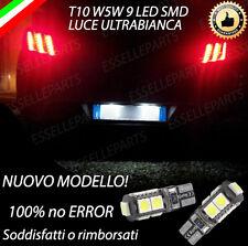 COPPIA LUCI TARGA 9 LED PER PEUGEOT 508 T10 W5W CANBUS 100% NO ERRORE