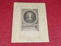 GRAVURE XVIIIe - PORTRAIT ABBE DE ST PIERRE 1658-1743 Ca 1775 Utopiste Pacifiste