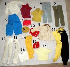 "New listing 1960-70s KEN 12"" mattel barbie doll -- SHIRT PANTS SHOES SOCKS JACKET VISOR"