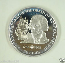 New listing Gibraltar Coin 2.8 Ecus, 1995, 190th Anniversary of Admiral Nelson's Death