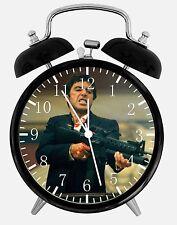 "Scarface Scar Face Alarm Desk Clock 3.75"" Home or Office Decor E26 Nice For Gift"