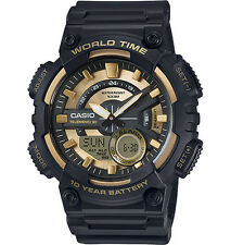 Casio Men's Databank 30 Watch, 100M, 3 Alarms, Chronograph, Resin, AEQ110BW-9AV
