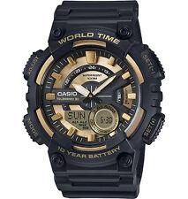 Casio Men's Databank 30 Watch, 100M, 3 Alarms, Chronograph, Resin, AEQ110BW-9AV