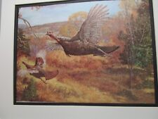 Wild Turkeys in Flight  Remington Wild Wings 1976 Exhibit features  birds