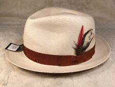 "NWT Bailey Of Hollywood ""GUTHRIE"" Men's Lite Straw Fedora Hat Natural X-Large"