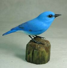 Mountain Bluebird Original Wood Carving
