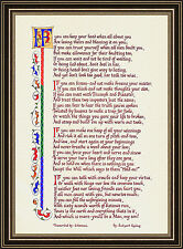 """""""IF"""" by Rudyard Kipling - Calligraphy Print - Motivational Gift for Everyone"""