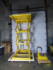 """Advance Lifts Hydraulic Scissor Lift 58"""" X 60"""" Lift Height 119"""" 4000lb Unused."""