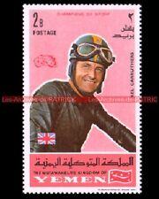 CARRUTHERS Kel Pilote YEMEN : Timbre Neuf Poste Moto 1969 Moto Timbre Sello