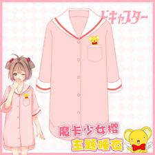 New Cardcaptor Sakura Kinmoto Sleepwear Night Dress Pajamas Cosplay Costume