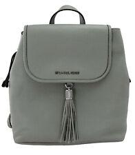 Michael Kors Bedford Backpack Bag Pearl Grey Pebbled Leather Medium