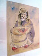 """BERTHOMME ST-ANDRE (1905-1977) Période Algérienne 1925 """"L'homme d'Alger """" Aquare"""