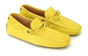 Tods Chaussures Homme Jaune Cuir Daim Conduite Mocassins à Enfiler Taille 6.5