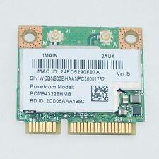 Broadcom BCM943228HMB WIFI Wireless N BT Bluetooth 4.0 Half MINI Card 802.11abgn
