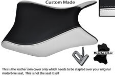 WHITE & BLACK CUSTOM FITS HONDA CBR 125 R 11-13 FRONT SEAT COVER